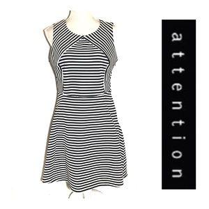 Attention Sleeveless Striped Dress